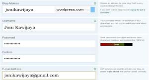 cara membuat blog di wordpress online